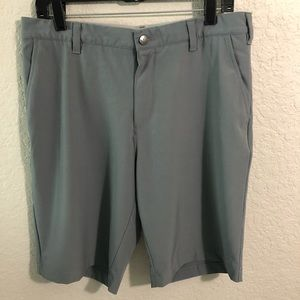 Men's ADIDAS Gray Bermuda Golf Shorts Waist 33
